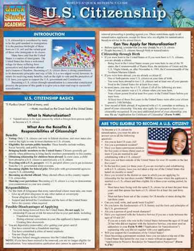 U.s. Citizenship By Barcharts, Inc. (COR)